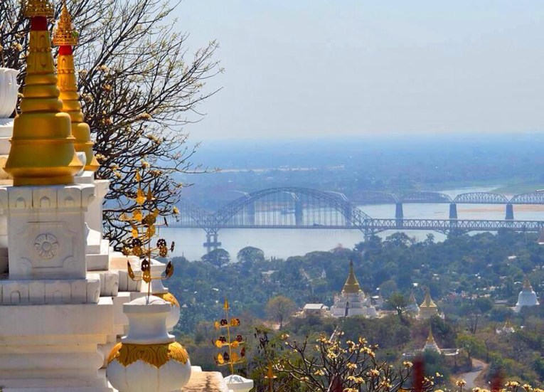 Views of Mandalay from Hilltop, Best mandalay day tour by taxi