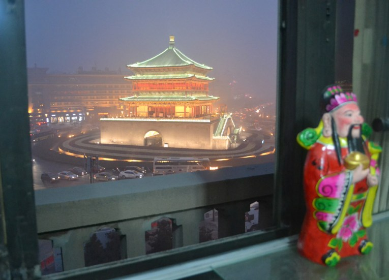Views of Xian Bell Tower, Top Attractions in Xian China (Shaanxi)