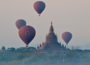 Hot Air Balloons Over Bagan, 2 days in Bagan and Mount Popa, Myanmar