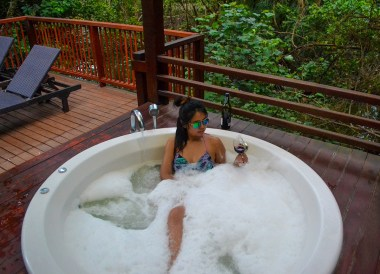 Jacuzzi Balcony at Centara Chaan Talay, Travel in Eastern Thailand