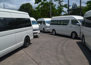 Minivan Parking Lot, Buying Diamonds in Bangkok, Thailand