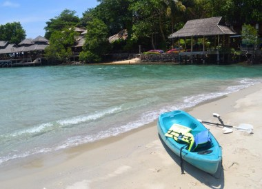 Free Kayak Hire to Beach, Captain Hook Resort Koh Kood, Travel Thailand