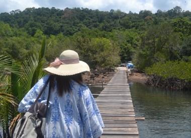 Pier Travelling Inland from Captain Hook Resort Koh Kood, Travel Thailand