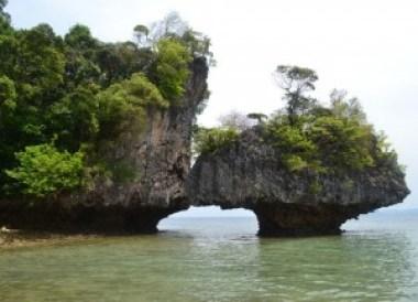 Limestone Arch at Koh Phakbia, Snorkelling and Island Hopping in Phang-Nga, Koh Yao Yai Thailand