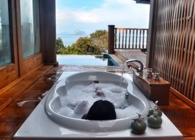 Sunken Bathtub on Veranda, Santhiya Koh Yao Yai Resort Pool Villas, Thailand