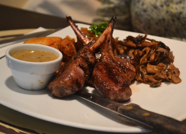 Grilled Pork Chops at Rainhill, Wine Connection in Sukhumvit, Bangkok, Thailand
