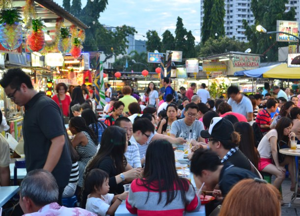 Gurney Drive in Evening, Best Food Courts in Georgetown Penang