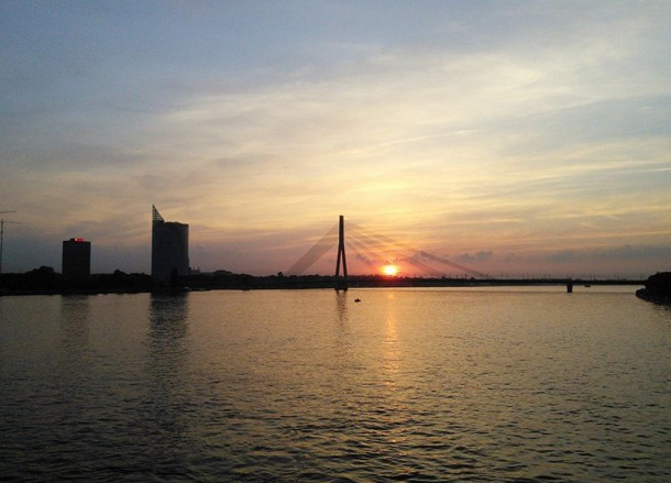 Sunset on Daugava River, Backpacking Parents, My Travel Inspiration