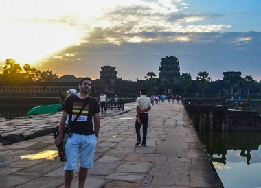 Allan Wilson at Angkor Front, Introduction to Angkor Wat Two Day Tours
