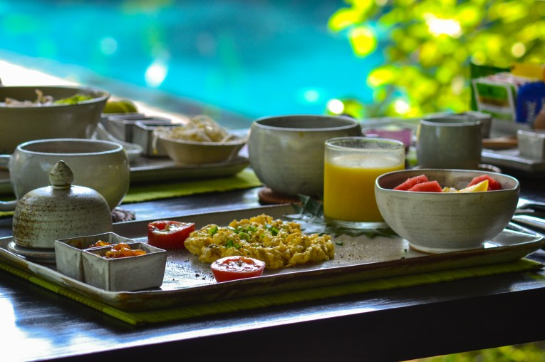 Breakfast by the Pool, Maison Polanka Review, Siem Reap