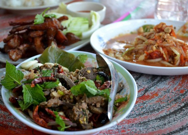 Eating Local Isaan Food, Isaan Tours, Phanom Rung