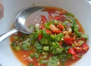 Nam Jin Sauce, Thai fried fish, Thailand