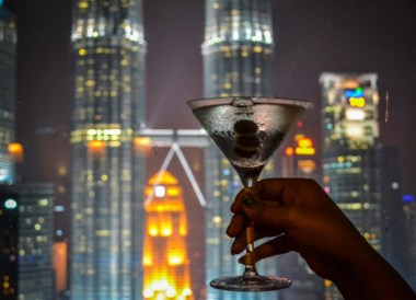 Skybar Cocktails, Top 10 Attractions in Kuala Lumpur Malaysia