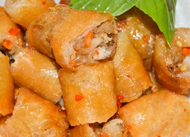 Thai Spring Rolls, Bangkok Street Food, Cheap Eats, Thailand