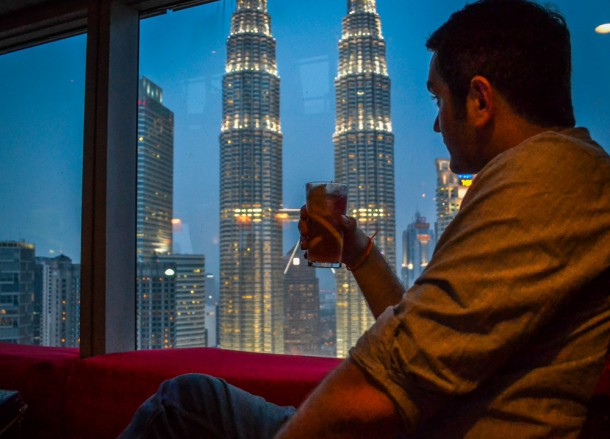 Best Views of Petronas Towers, Cocktails at Skybar