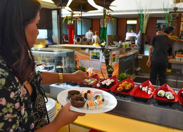 Best Views of Petronas Towers, Gobo Sushi Buffet