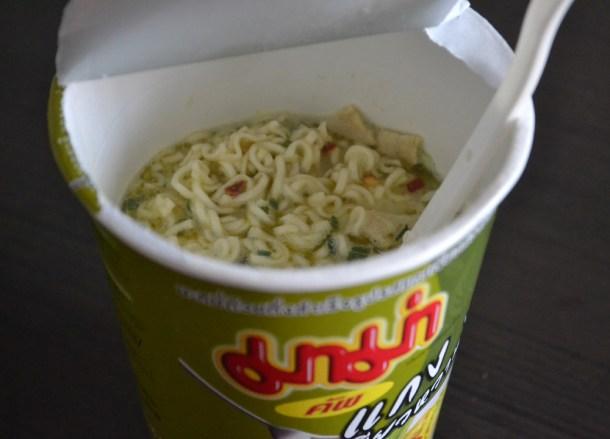 Green Curry Mama Noodles, 7-11 Food in Bangkok Thailand