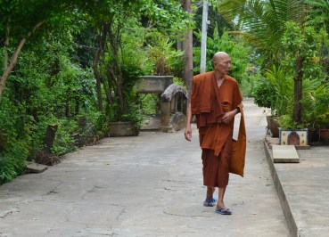 Local Buddhist Monk, Bangkok to Koh Kret Island