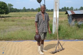 Local Farmer, Living in Rural Thailand, Isaan North East Thailand