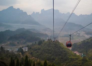 Beautiful Views, Zhangjiajie to Tianmen Mountain by Cable Car