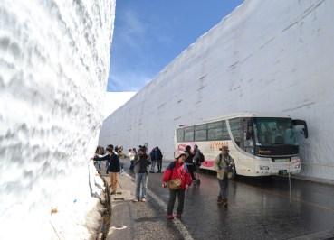 Tall Snow Wall , 2 Week JR Pass, Japan Train Travel