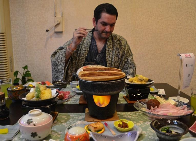 Sushi Fish, Ryokan Hotels at Mount Fuji, Lake Kawaguchiko Japan