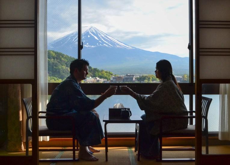 Mount Fuji Ryokan, Best Hotel Room Views in Asia, Japan