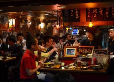 Drunk Salarymen, Shimbashi Station Area Tokyo JR Pass Japan