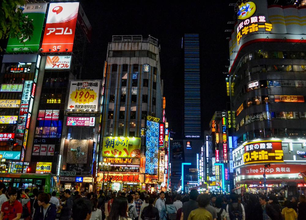 Shinjuku Nightlife, 2 Week JR Pass, Japan Train Travel