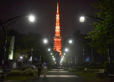 Tokyo Tower, Shimbashi Station Area Tokyo JR Pass Japan