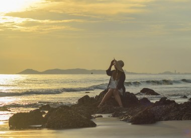 Sunset on Beach, Rayong Marriott Hotel, Best Beach Seafood