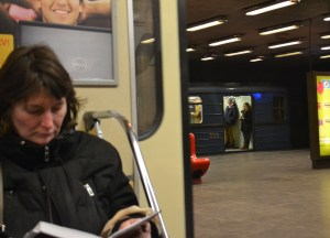 Woman on Train, Budapest Underground Metro Tourist Scam