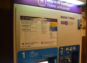 Machine for Tickets Budapest Underground Metro Tourist Scam