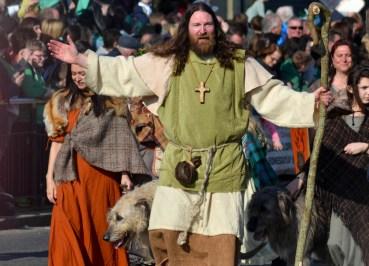 St Paddy, Celebrating Saint Patricks Day in Downpatrick Northern Ireland