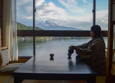 Dining Table, Ryokan Hotels at Mount Fuji and Lake Kawaguchiko (Japan)