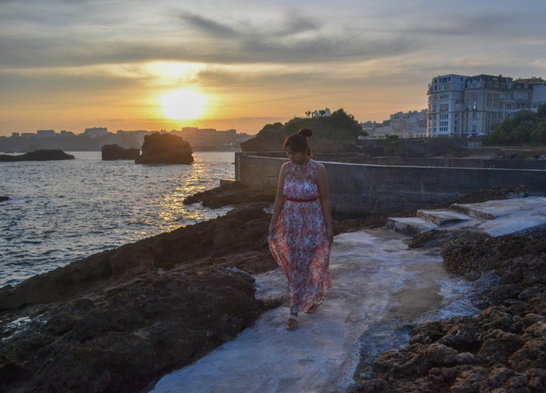 Biarritz Sunrise, Road Trip in France Southern Borders June