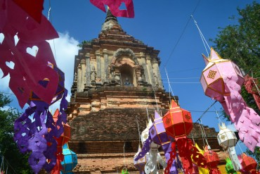 Colourful flags, Wat Lok Moli Best Temples in Chiang Mai Old City