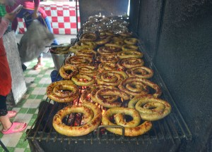 Chiang Mai Sausage, Best Northern Thai Sausage in Chiang Mai Mae Hia Market