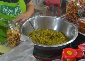 Nam Prik Noom, Best Northern Thai Sausage in Chiang Mai Mae Hia Market