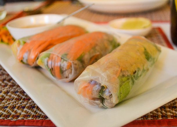 Fresh Spring Rolls, Best Restaurants in Vientiane Riverside Lao Food