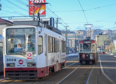 Trams in Hakodate, 24 Hours at the Sapporo Snow Festival by Rail (JR Pass)