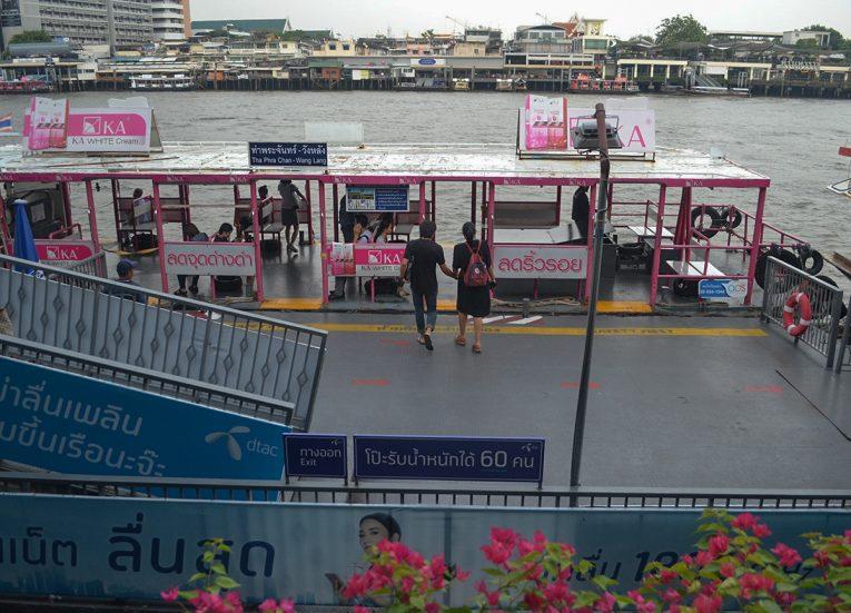 Wang Lang Pier, Best Areas of Bangkok Riverside, Chao Phraya River, Thailand