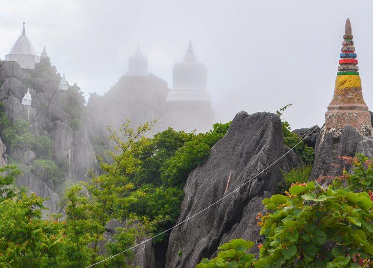 Clouds at Wat Chalermprakiat, Road Trips in Northern Thailand Chiang Mai