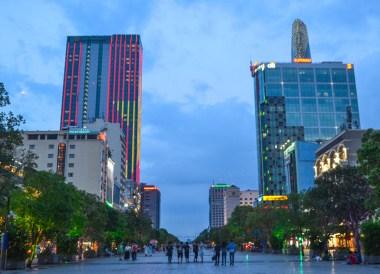 Nguyen Hue Walking Street, Le Méridien Saigon Riverside Hotel in Ho Chi Minh