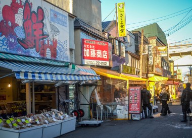 Market Area, tourist attractions in hakodate hokkaido japan