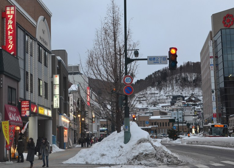 Chuo DoriStreet, Travel to the Otaru Light Festival in Hokkaido Japan on JR Pass