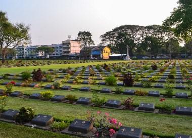 Allied War Cemetery, Day Trip Bangkok to Kanchanaburi Tour, Thailand