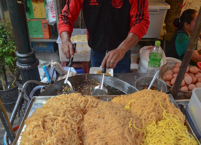 Pad Thai Noodles,Thai Isaan Food, Eating in Northeastern Thailand