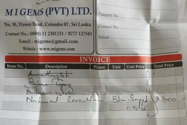 Scams in Sri Lanka: $3000 in a Gem Scam in Colombo (Sri Lanka)