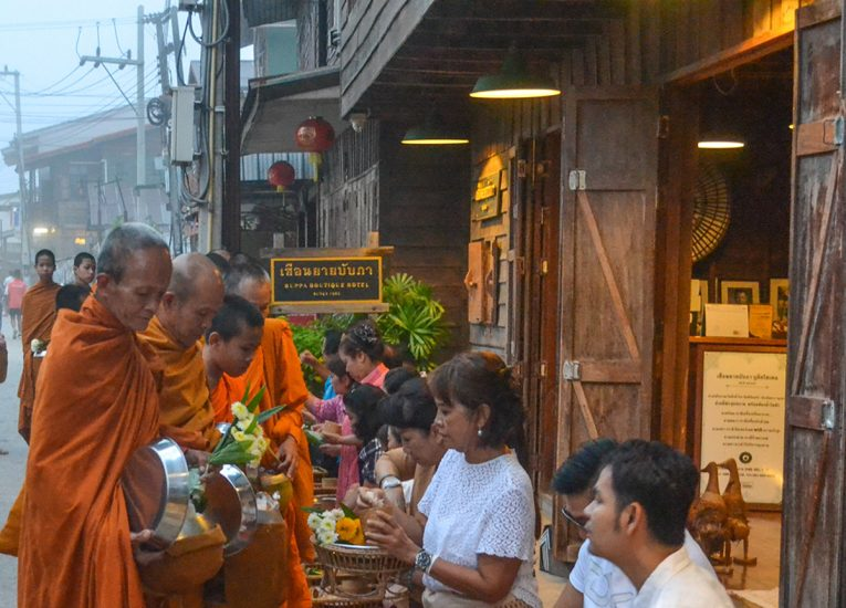 Procession of Monks, Living Like a Local in Bangkok: